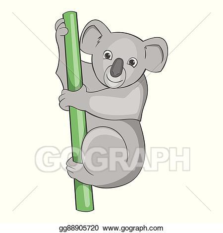Vector illustration bear cartoon. Koala clipart icon australian
