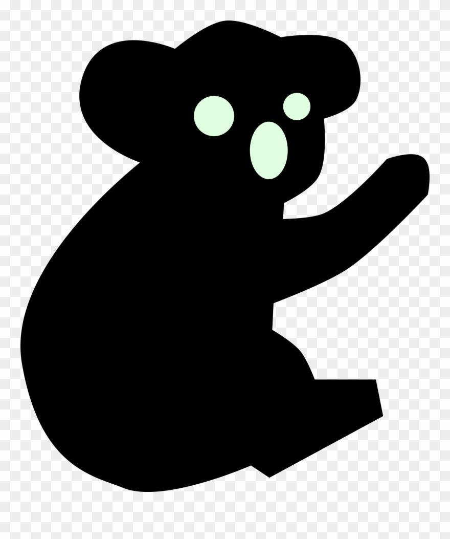 Koala clipart icon australian. Coat baby silhouette png