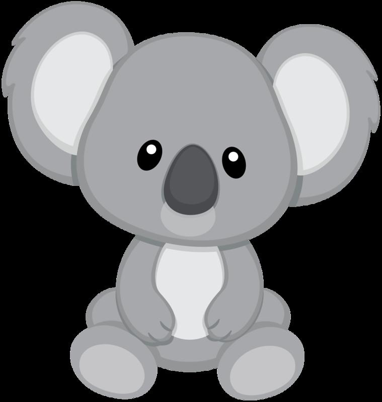 Koala png pinterest manualidades. Racoon clipart grey object