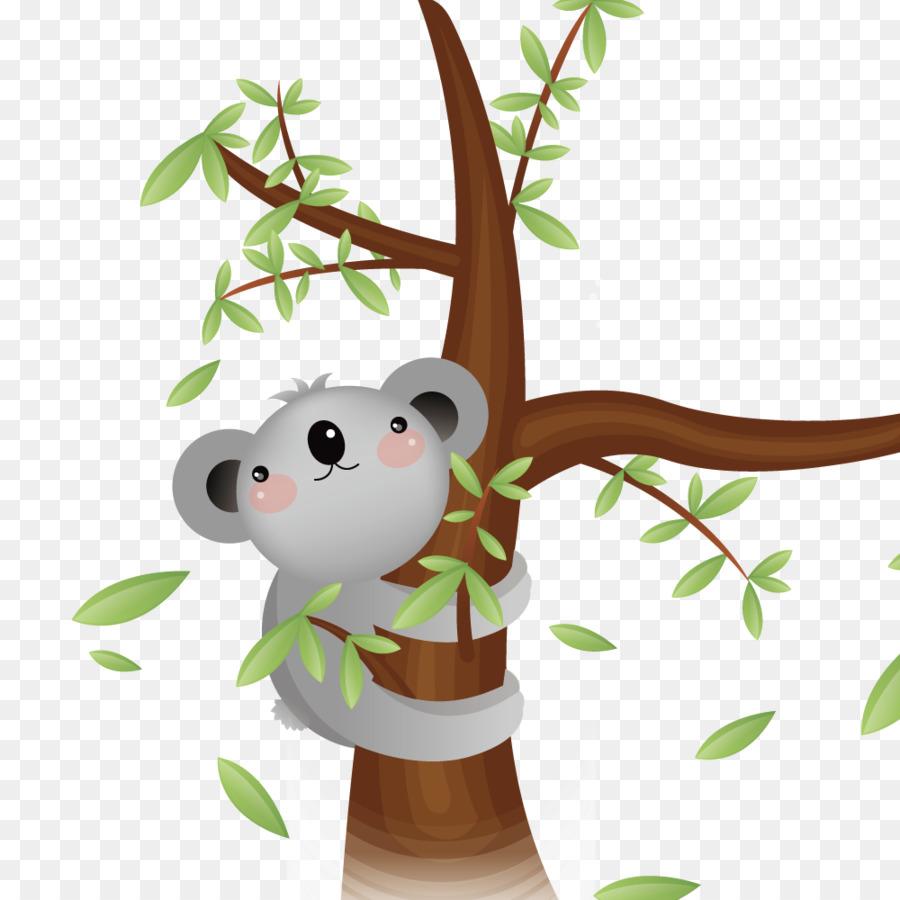 Tree watercolor png download. Koala clipart koala hug