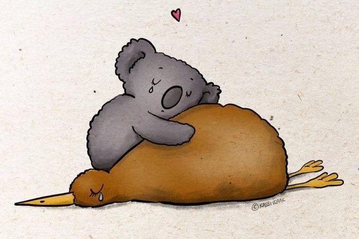 Koala clipart koala hug. Artists and crafters helping