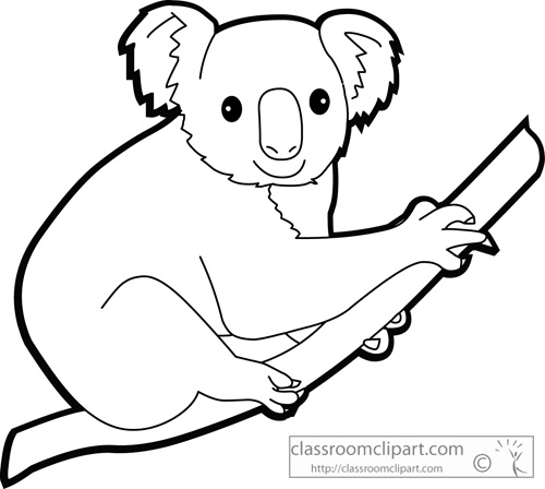 Outline at paintingvalley com. Koala clipart tree drawing