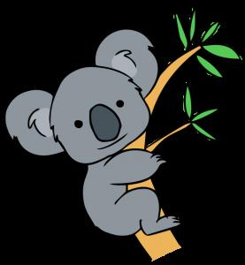 Free clip art forest. Australia clipart koala