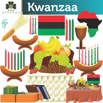 Kwanzaa clipart. Holiday clip art by
