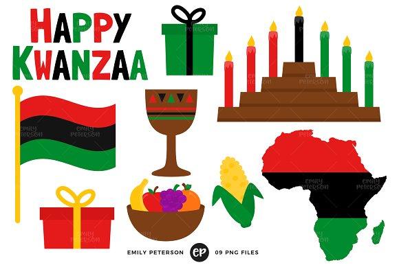 Kwanzaa clipart. Illustrations creative market