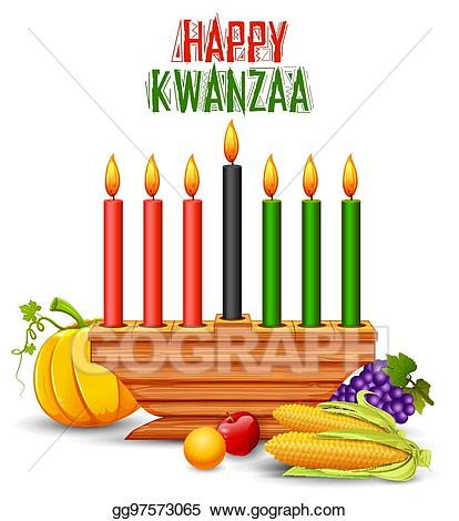 Kwanzaa clipart happy. Vector greetings for celebration