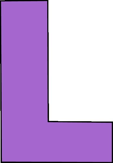 Purple letter clip art. L clipart