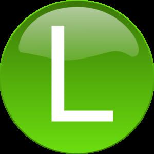 L clipart. Green clip art at