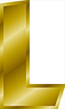 Free gold letter graphics. L clipart