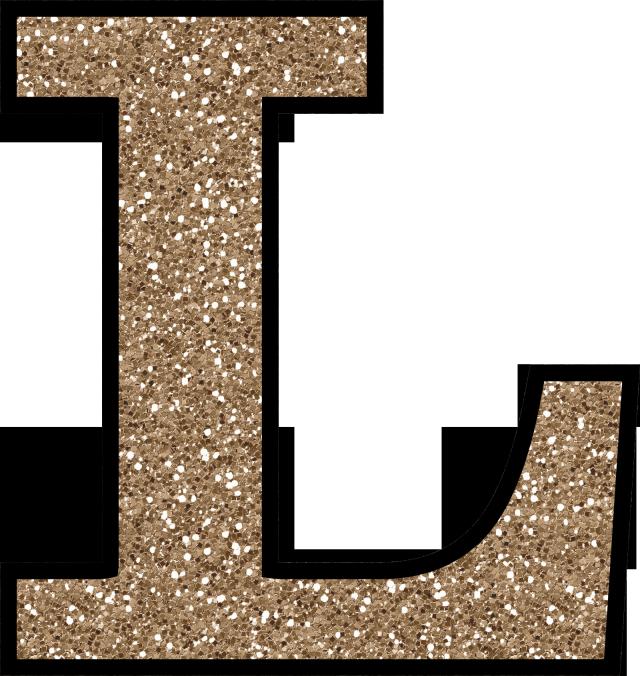 L clipart alphabet l. Glitter without the glue