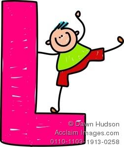 A happy little boy. L clipart clip art
