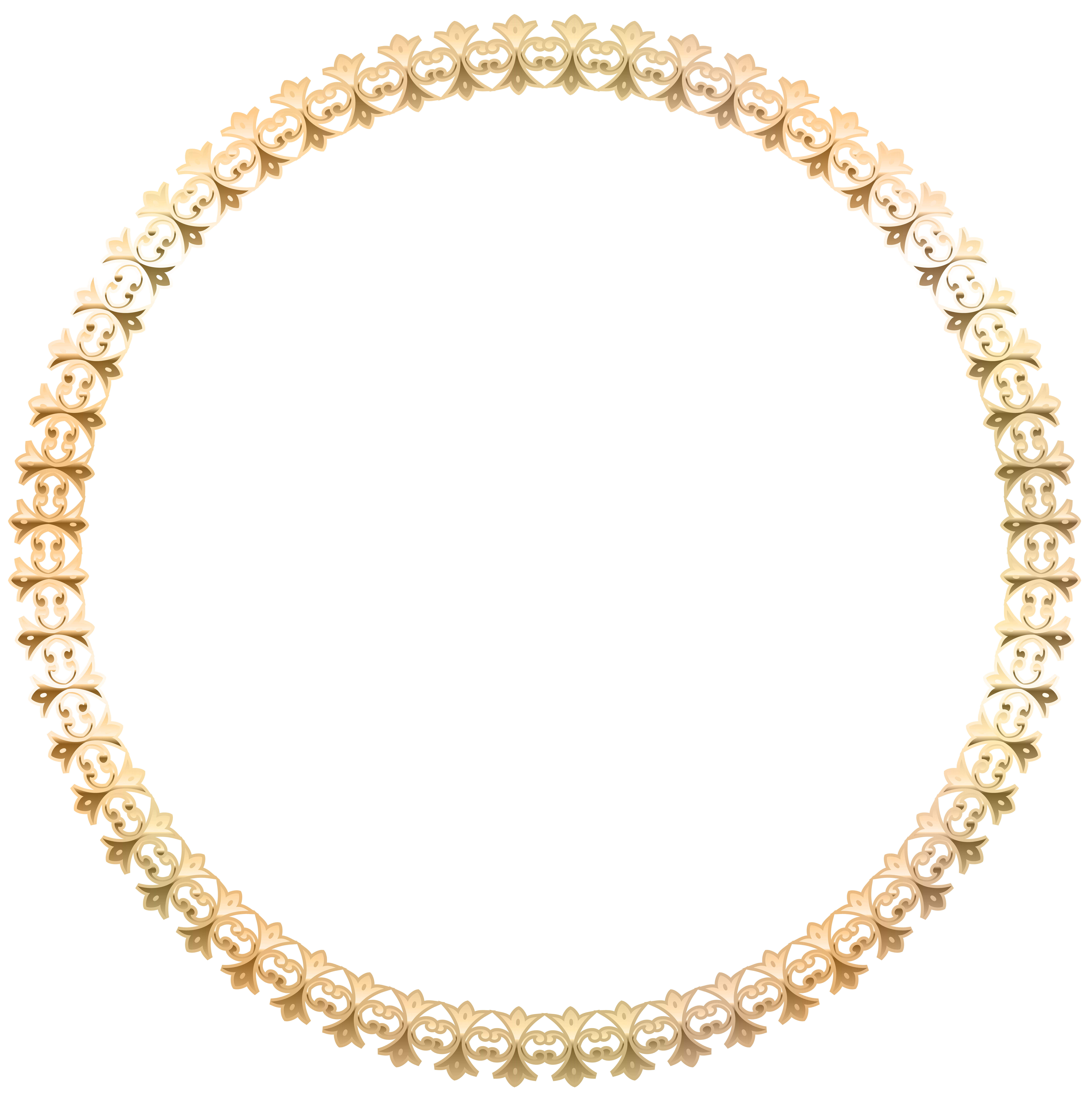 Border transparent image gallery. Round gold frame png