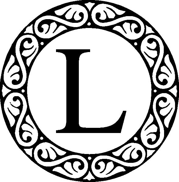 Clip art at clker. L clipart monogram