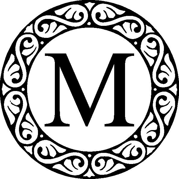 M circle clip art. L clipart monogram
