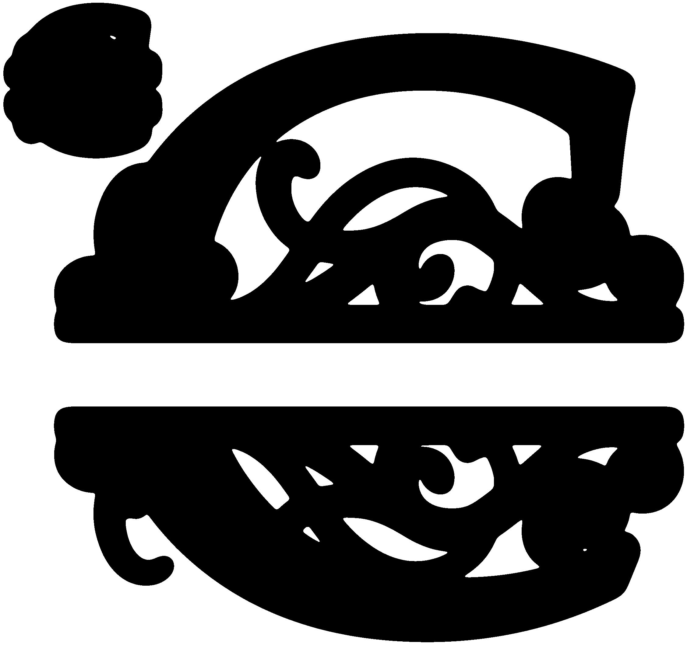 L clipart monogram. Flourished split c snapdragon