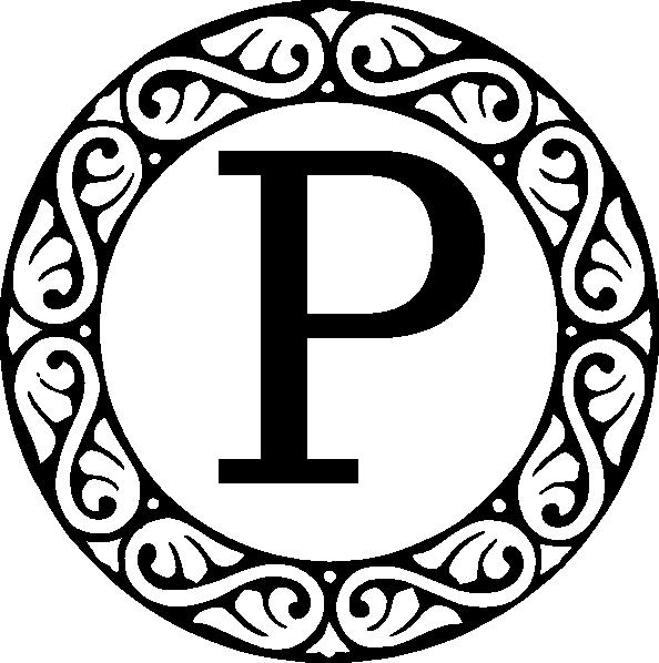 L clipart monogram. Letter p clip art