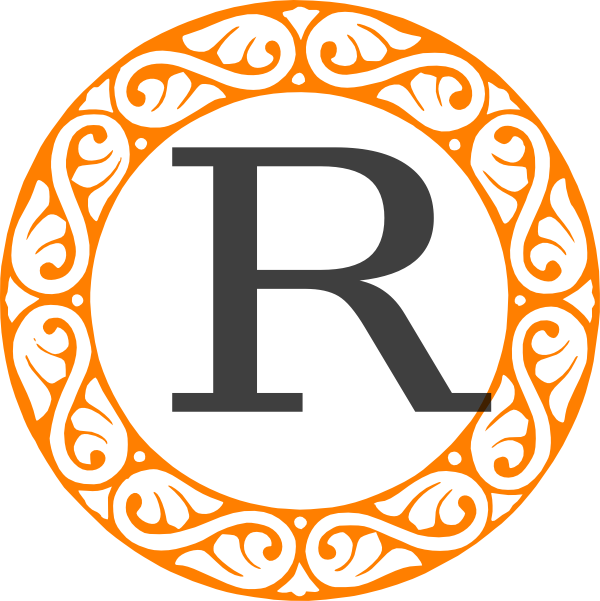 R clipart rated r. Monogram clip art at