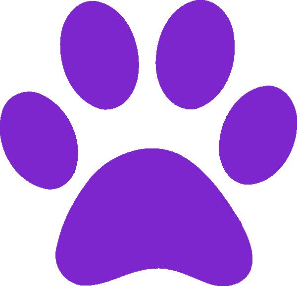 L clipart purple. Paw print clip art