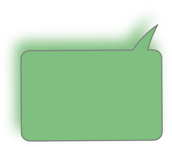 Light green top right. Square clipart speech bubble
