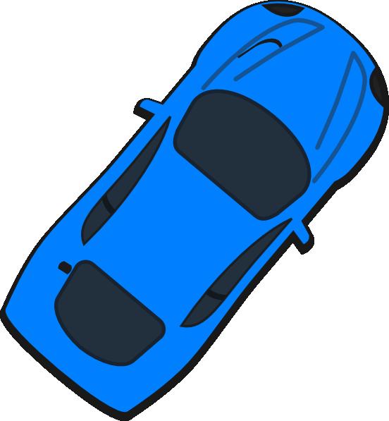 Blue car clip art. L clipart top view