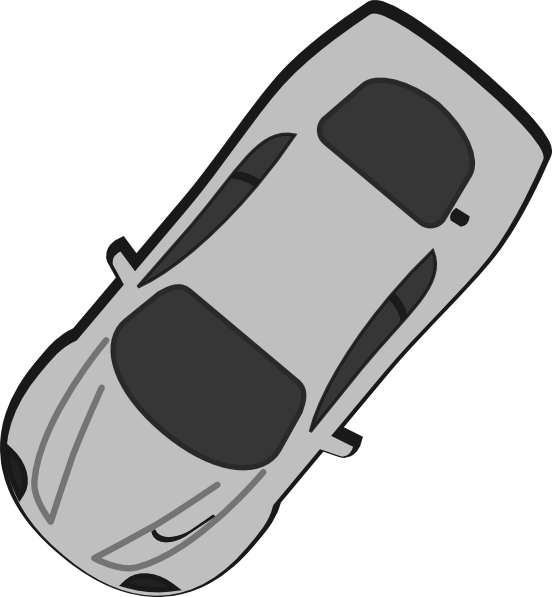 L clipart top view. Gray car clip art
