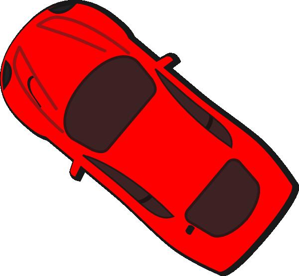 Red car clip art. L clipart top view