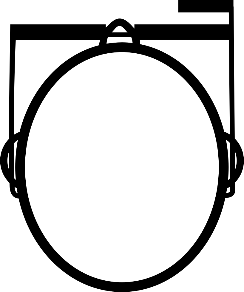 L clipart top view. Google glasses on a
