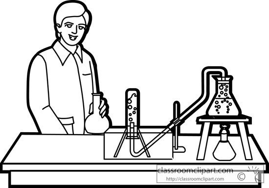 Lab clipart black and white. Free science download clip