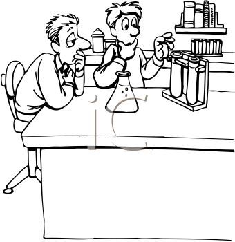 Science clip art all. Lab clipart black and white