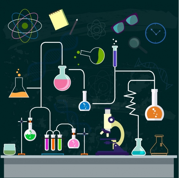 Lab clipart experiment tool. Chemistry background process decor