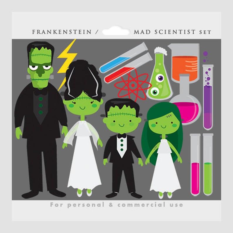 Halloween clip art mad. Lab clipart frankenstein