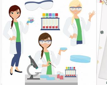 Lab clipart hospital laboratory. Medical clip art set