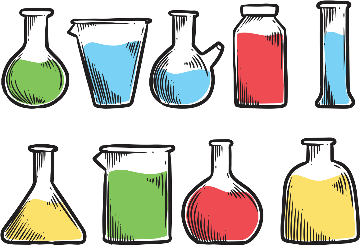 Container science clip art. Lab clipart lab material