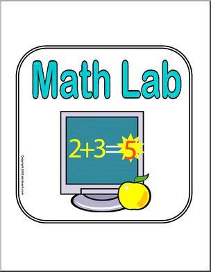 Math clipart math lab. Sign abcteach