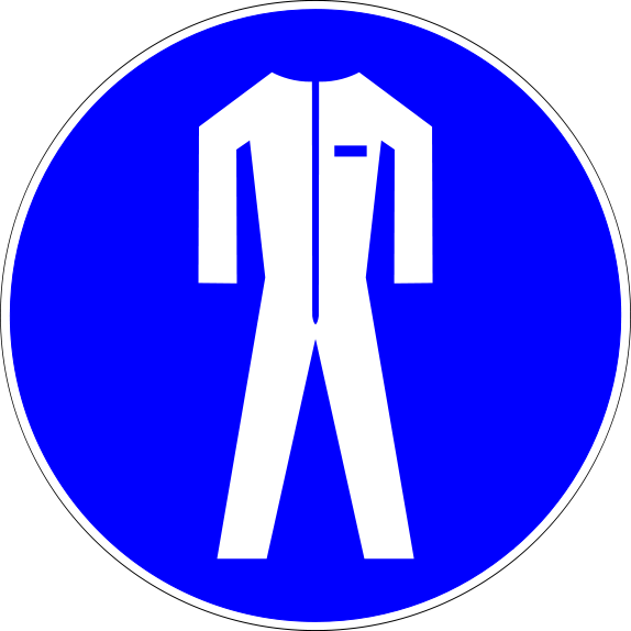 Mandatory action safety signs. Medical clipart ppe