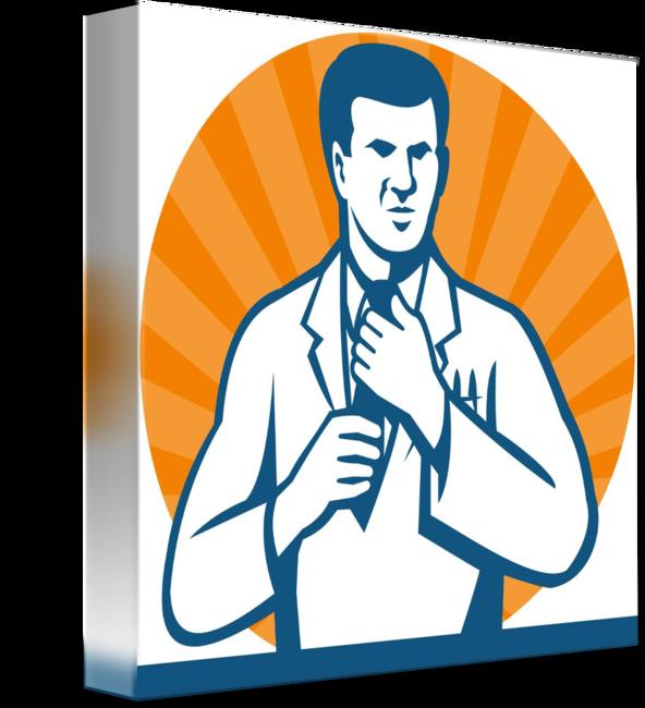 Scientist technician tie by. Lab clipart researcher