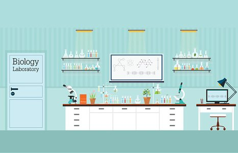 Biology interior or laboratory. Lab clipart science room