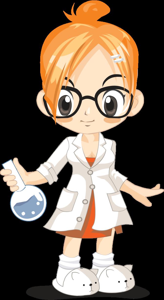 Scientist clipart scient. Laboratory science woman clip