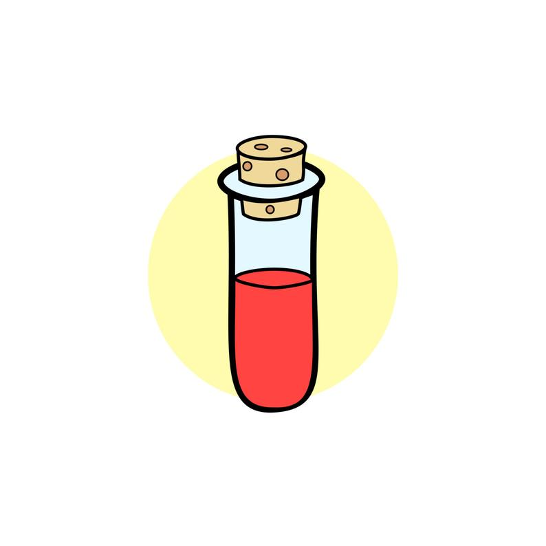 Test tube laboratory science. Lab clipart vector