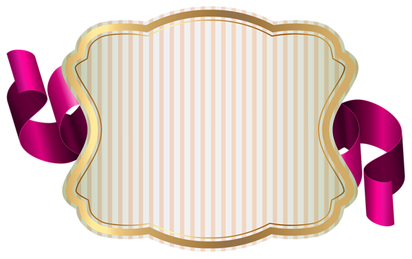 Label clipart. With ribbon png clip