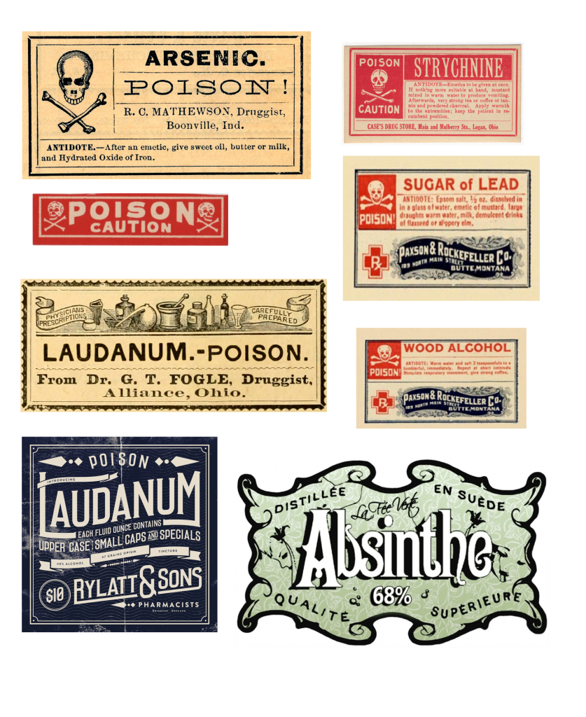 Vintage poisons halloween bottles. Label clipart apothecary