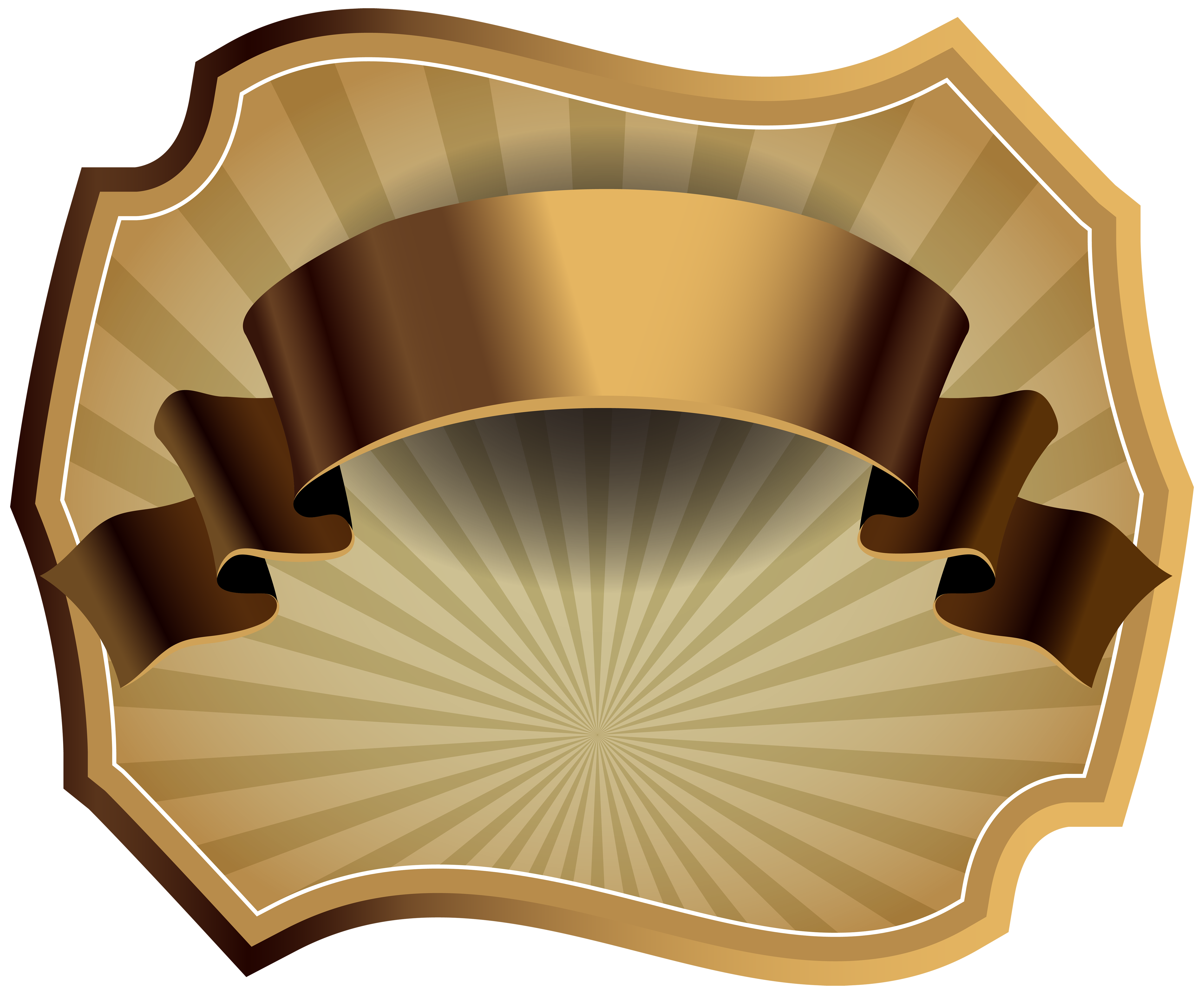Luxury template png image. Label clipart brown