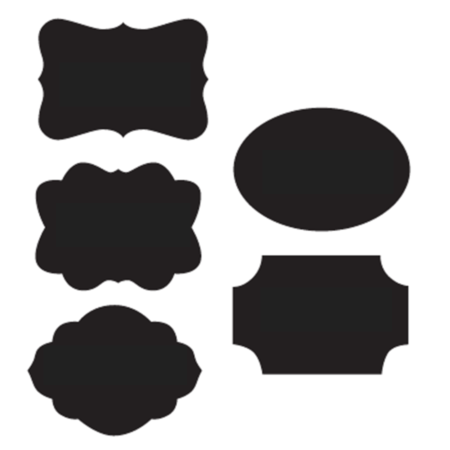 Chalkboard stickers labels and. Label clipart chalk