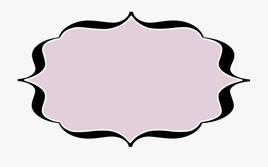 Clip art for labels. Label clipart fancy