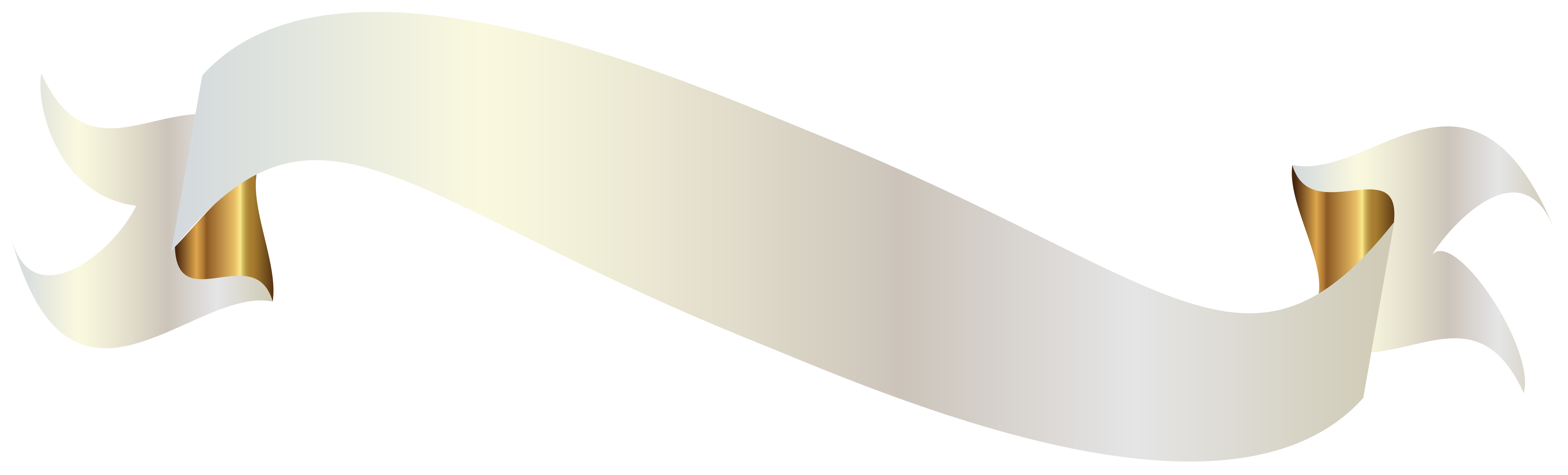 White with gold png. Label clipart grey banner