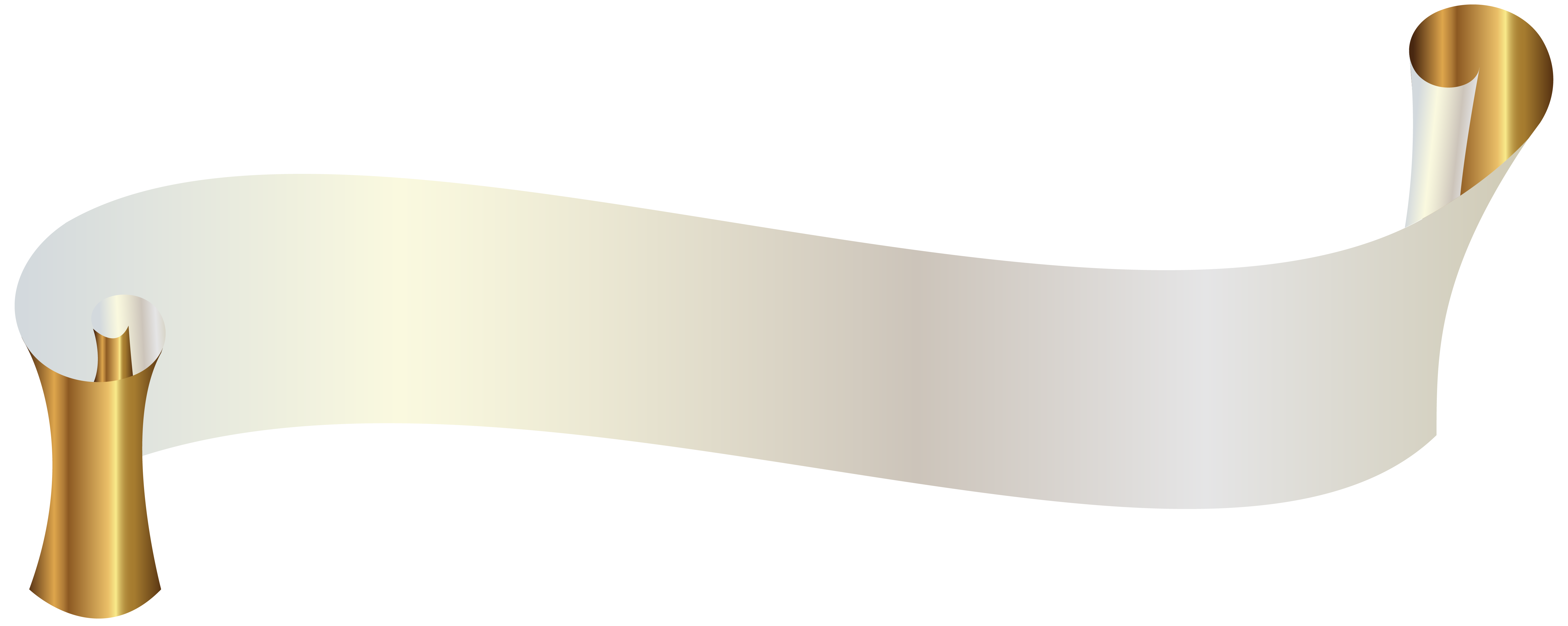 Label clipart grey banner. White with gold png