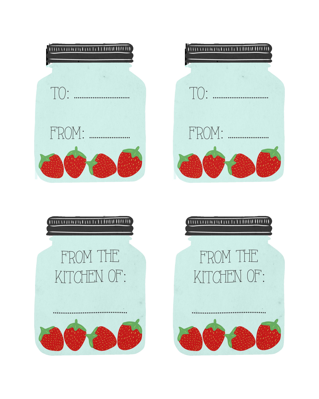 Free printable mason recipe. Strawberries clipart jar
