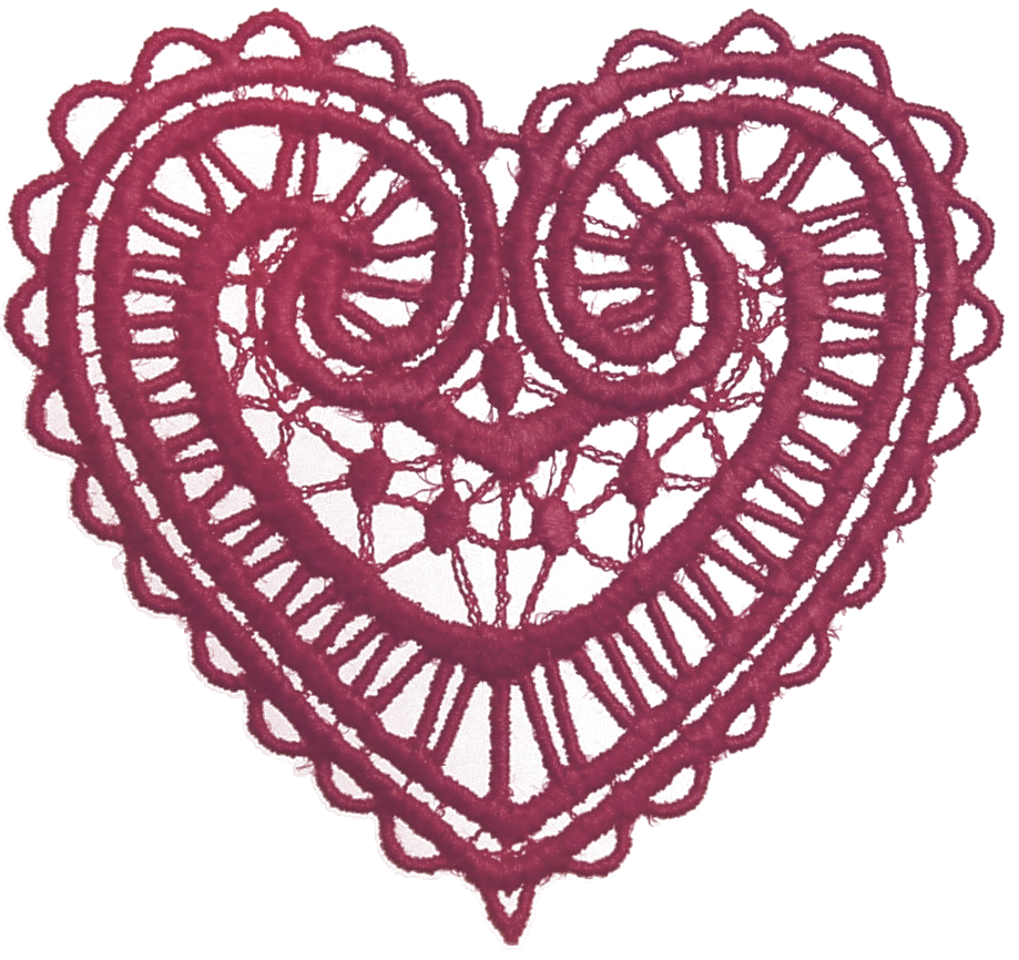 lace clipart red lace