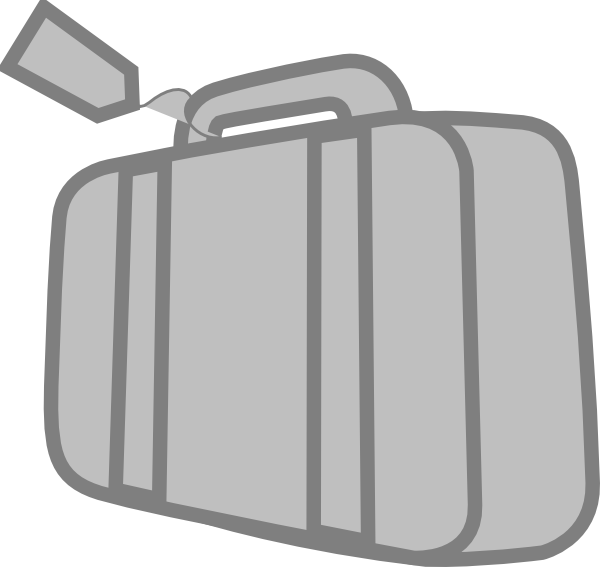 Grey suitcase clip art. Luggage clipart travel bag