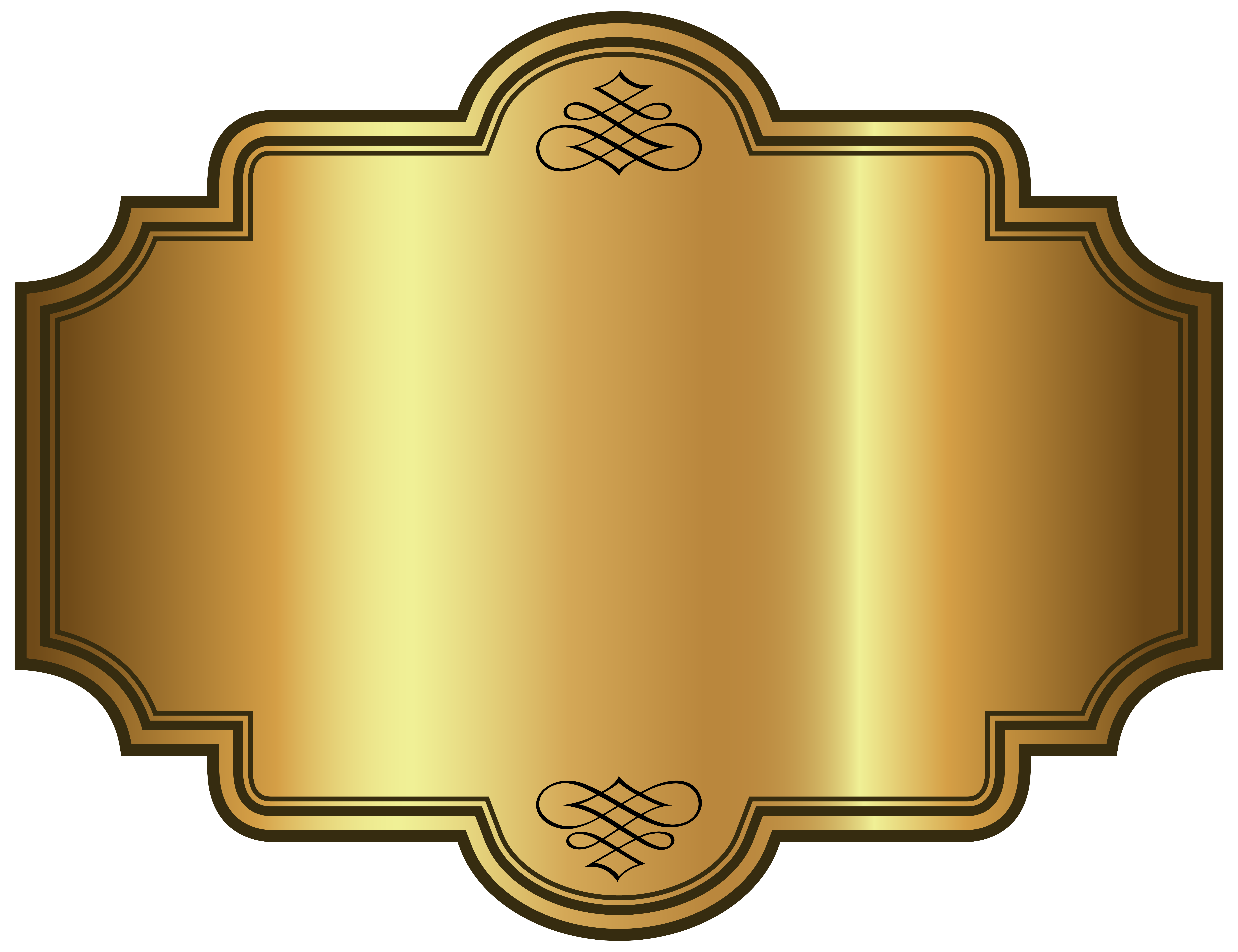 Golden luxury label picture. Photo clipart template